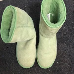 Women's mint green uggs- size 10